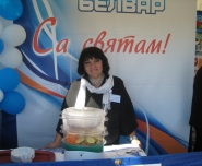 Leading advertising expert Raychenko Zhanna Nikolayevna  before the presentation of a new product