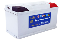Starter batteries nominal capacity of 55 to 100 Axh